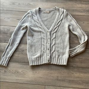 Old Navy Cable knit Button up Gray Cardigan